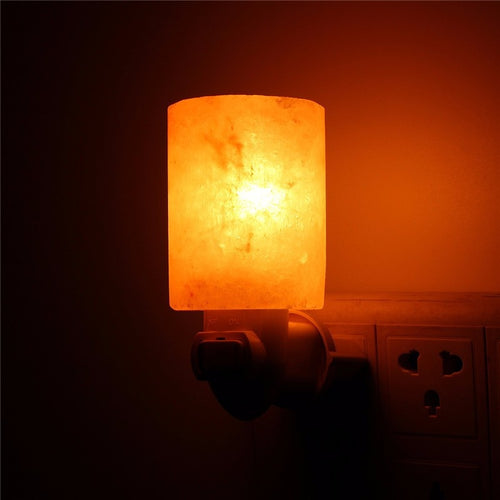Himalayan Salt Night Light Natural Crystal Lamp Air Purifier Home Wall Decor EU/US/UK/AU Plug