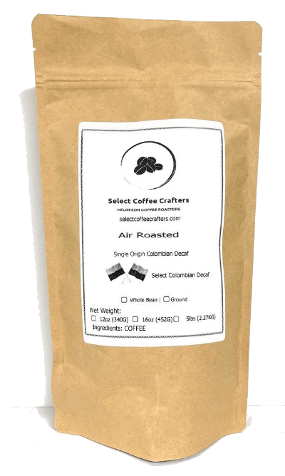Colombian Supremo Single Origin DECAF UNROASTED Green - Select Coffee Crafters LLC
