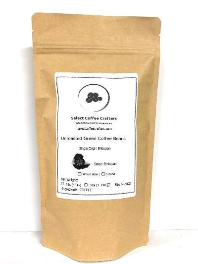 Ethiopia Single Source UNROASTED GREEN - Select Coffee Crafters LLC
