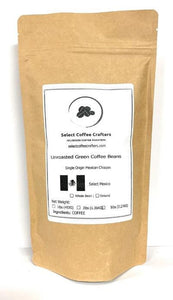 Mexican Single Source UNROASTED GREEN - Select Coffee Crafters LLC