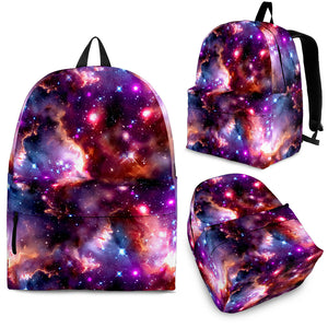 Galaxy theme backpack