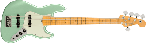 Fender American Professional II Jazz Bass V - Mystic Surf Green with Maple Fingerboard