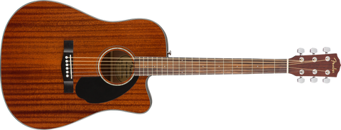 Fender CD-60SCE Dreadnought Acoustic-Electric Guitar All Mahogany - CBN Music Warehouse
