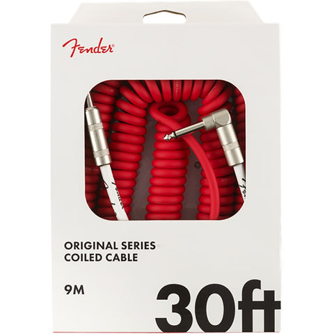 Fender Original Coil Cable 30' Red - CBN Music Warehouse