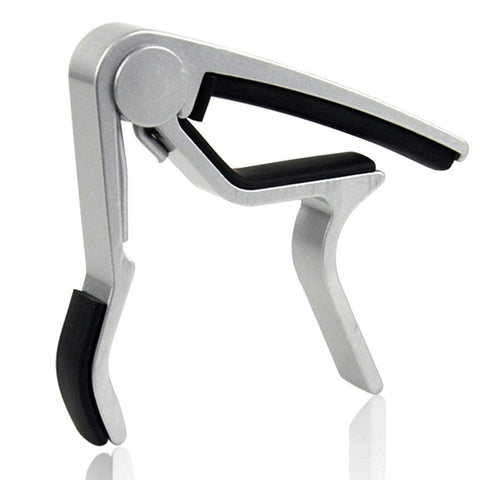 MJ Audio MJ-09SL Guitar Capo Silver Finish - CBN Music Warehouse