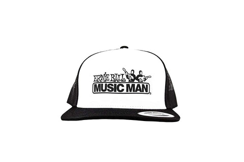 Ernie Ball Black & White Trucker Cap w/ Ernie Ball Eagle - CBN Music Warehouse
