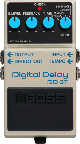 Boss Dd-3t Digital Delay 3-mode 12.5 To 800ms With Short Loop Delay Effect Pedal - CBN Music Warehouse