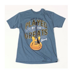 Gibson Played by the greats t-shirt (indigo) XXL - CBN Music Warehouse