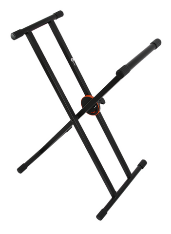 MJ Audio SF508 Keyboard / Piano Stand Double X-Brace Construction Adjustable Black - CBN Music Warehouse