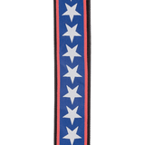 D'Addario 50A10 Polyester Woven Guitar Strap - Stars and Stripes - CBN Music Warehouse