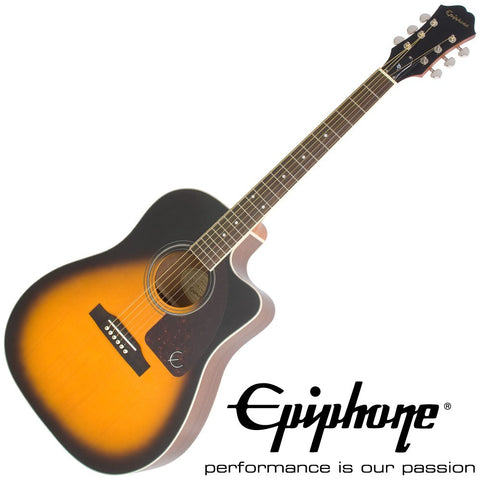 Epiphone AJ-220SCE Acoustic Electric Guitar, Vintage Sunburst - CBN Music Warehouse