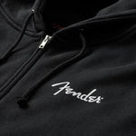 Fender Spaghetti Logo Zip Hoodie  Medium Black - CBN Music Warehouse
