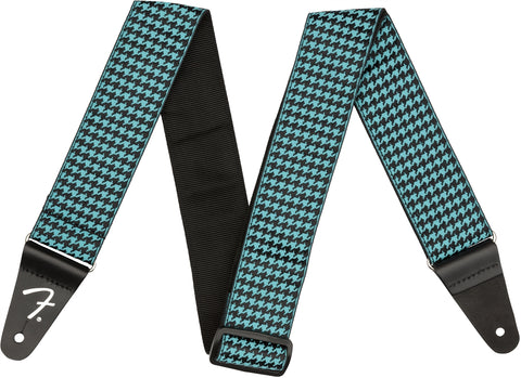Fender Houndstooth Jacquard Strap - Teal - CBN Music Warehouse