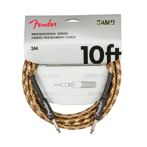 Fender Professional Series Instrument Cable 10ft - Desert Camo
