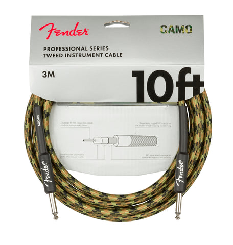 Fender Professional Series Instrument Cable 10ft STR/STR - Woodland Camo