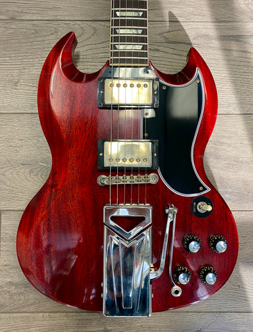 Gibson 60th Anniversary 1961 SG Les Paul Standard sideways Vibrola VOS - Cherry Red