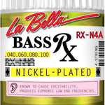 La Bella RX-N4A Nickel Plated Bass Strings, .040-.100 - CBN Music Warehouse