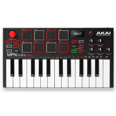 Akai Professional MPK Mini Play Compact Keyboard and Pad Controller - CBN Music Warehouse