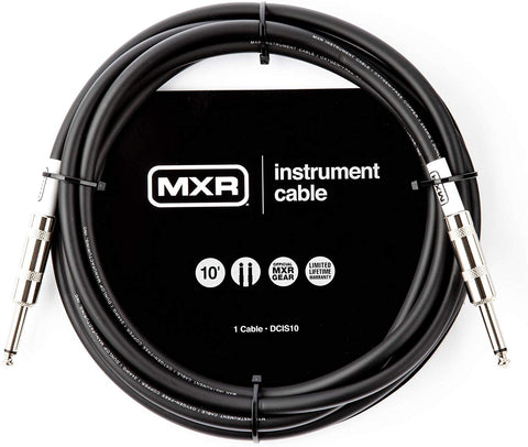 MXR DCIS10 Standard Instrument Cable - 10ft Straight/Straight - CBN Music Warehouse