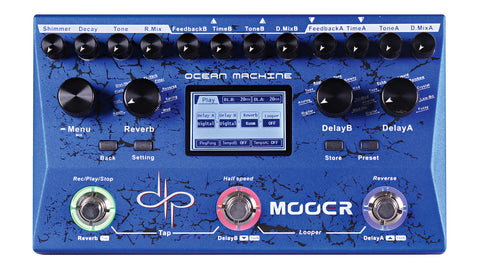 Mooer Audio OCEAN MACHINE - Delay, Reverb, and Looper Pedal - CBN Music Warehouse