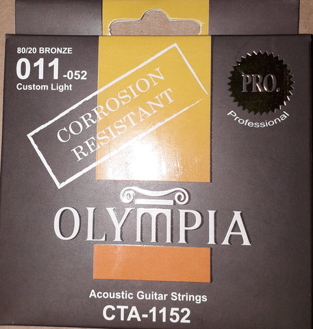 Olympia CTA1152 Accoustic Guitar Strings 011-052 - Custom Light - CBN Music Warehouse