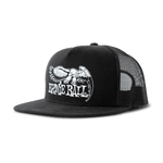 Ernie Ball Black & White Trucker Cap w/ Ernie Ball Eagle - Black - CBN Music Warehouse