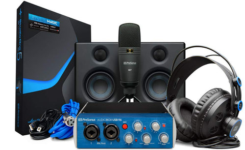 PreSonus AudioBox 96 Studio USB 2.0 Recording Bundle with Interface, Headphones, Microphone and Studio One software - CBN Music Warehouse