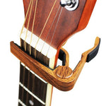 MJ Audio guitar Capo Dark Wood - MJ-09DW - CBN Music Warehouse