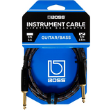 "BOSS 20-foot (6m) Instrument Cable, Straight/Straight ¼"" jack (BIC-20) - CBN Music Warehouse"