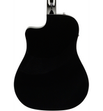 Fender CD-60SCE Dreadnought Acoustic-Electric Guitar Black - CBN Music Warehouse