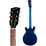 Gibson LPSDT00B2CH1 Les Paul Tribute DC 2020 Worn Blue Stain - CBN Music Warehouse