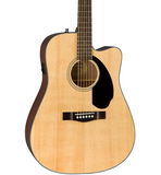 Fender CD-60SCE Dreadnought Acoustic-Electric Guitar Natural - CBN Music Warehouse
