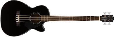 Fender CB-60SCE Black Acoustic Bass - CBN Music Warehouse