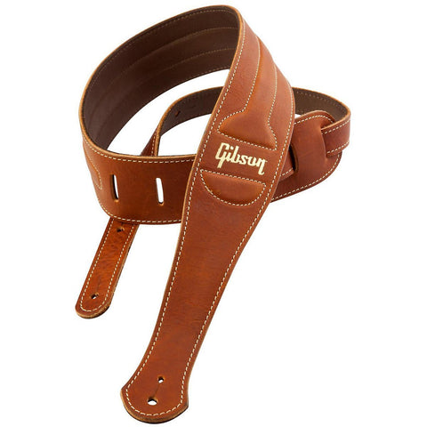 Gibson Leather guitar Strap The Classic Brown - CBN Music Warehouse