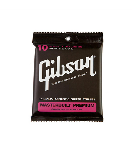 Gibson Accessories SAG-BRS10 Masterbuilt Premium 80/20 Bronze Super Ultra Light Acoustic Guitar Strings - CBN Music Warehouse