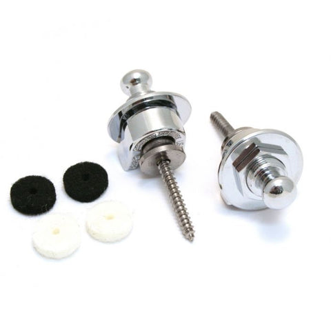 Fender Strap Locks and Buttons Set - Chrome - CBN Music Warehouse