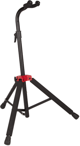 Fender Deluxe Hanging Guitar Stand, Black/Red - CBN Music Warehouse
