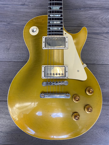 Gibson Custom Shop Murphy Lab 1957 Les Paul Goldtop Darkback Reissue Double Gold Light Aged