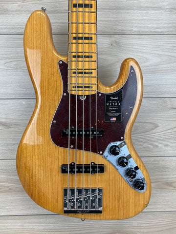 Fender American Ultra Jazz Bass® V, Aged Natural