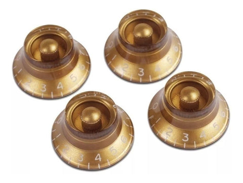 Gibson top hat knobs gold 4 pcs PRHK-020 - CBN Music Warehouse