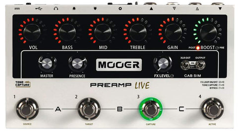 Mooer PreAmp Live Poffessional PreAmp Pedal - CBN Music Warehouse