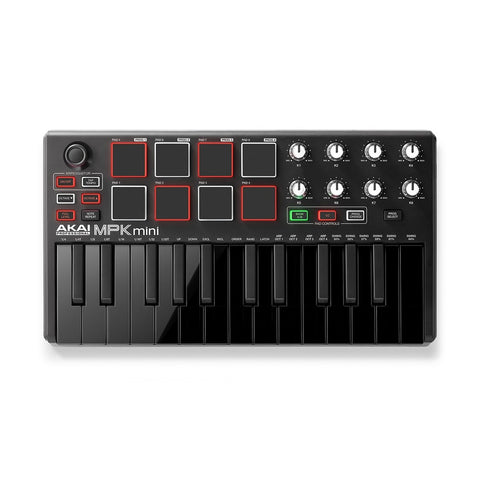 Akai Professional MPK mini MKII - Compact Keyboard and Pad Controller Black - CBN Music Warehouse