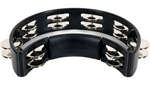 RhythmTech RT1010 Tambourine Black with Nickel Jingles - CBN Music Warehouse