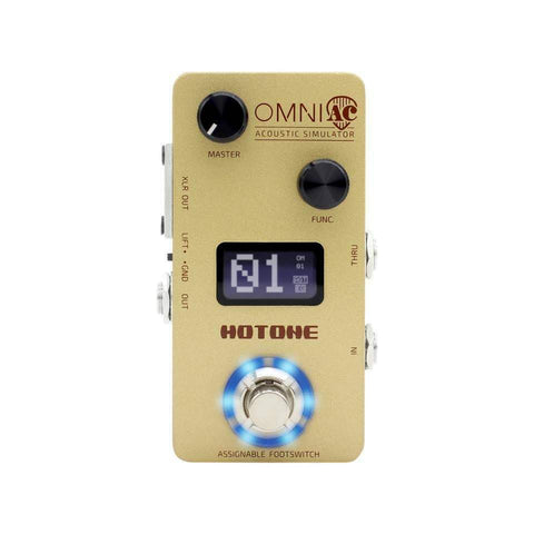 Hotone OMP-5 OMNI Acoustic Simulator Guitar Effects Pedal OMP5 - CBN Music Warehouse