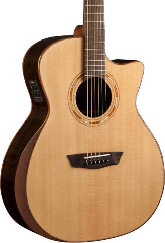 Washburn Comfort Series WCG20SCE Acoustic-Electric Guitar Natural - CBN Music Warehouse