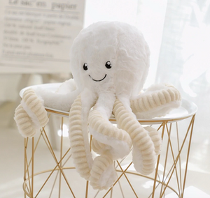Cute Fluffy Stuffed Plush Octopus Toy Kids Tentacles Squid