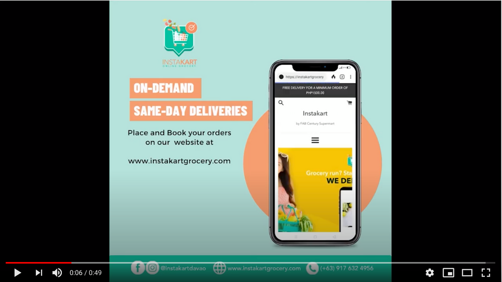 On-Demand and Same-Day Delivery at Instakart Davao