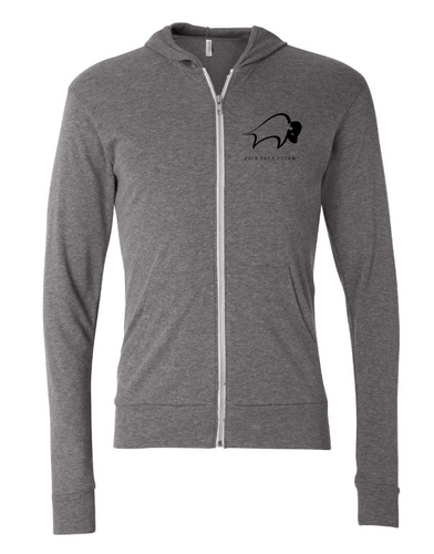 Face Your Storm™ - Unisex Triblend Full-Zip Lightweight Hoodie