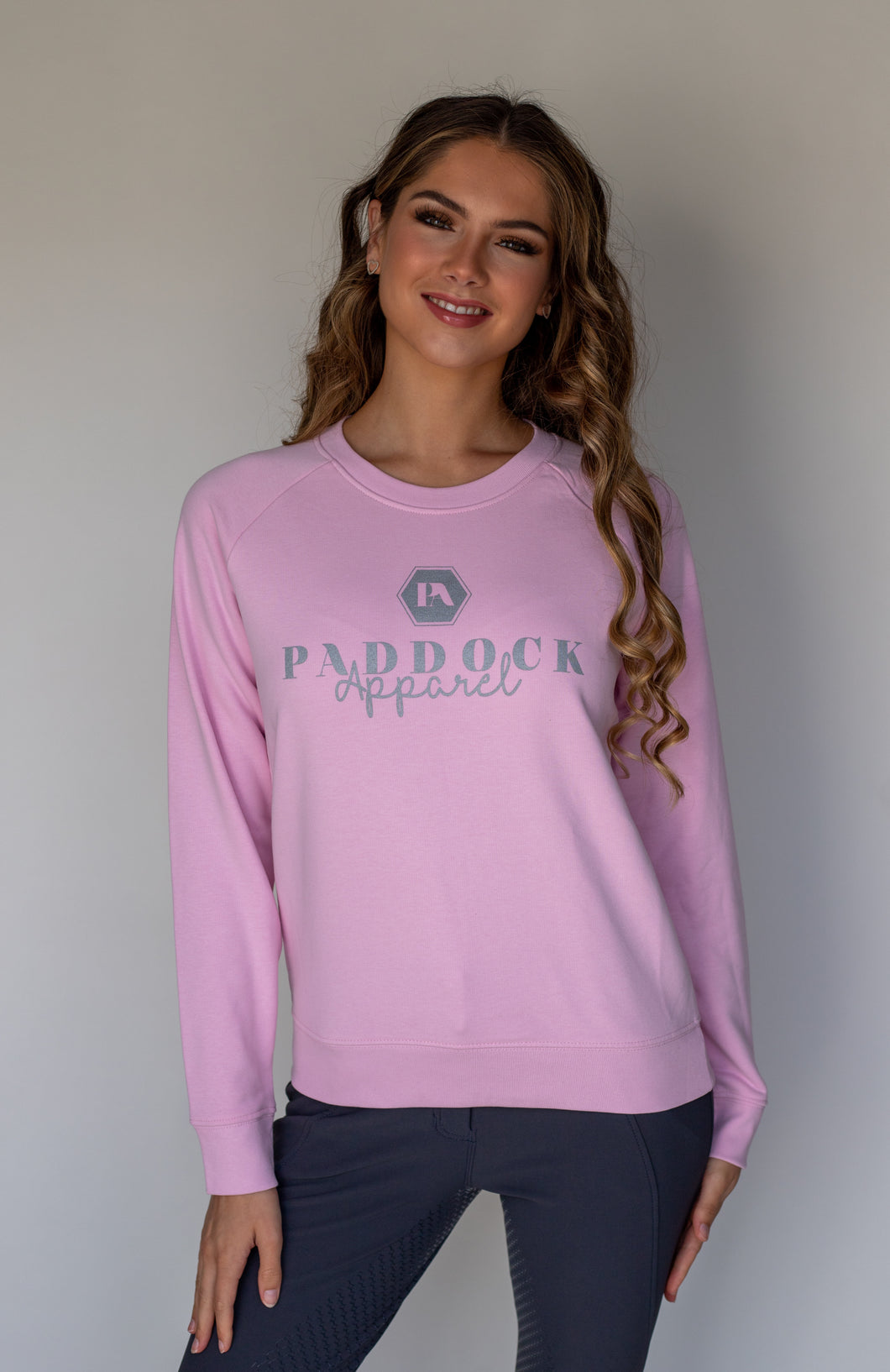 Nessa Ladies Sweatshirt - Cotton Pink