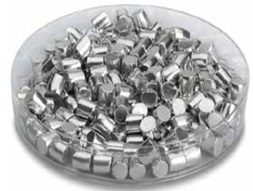 Aluminum, Al Pellets  - Evaporation Material -99.999% purity -3 x 3 mm